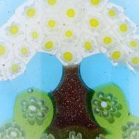 Murano Glass Jewelry - CHRISTMAS TREE PATTERN PENDANT NECKLACE MURANO GLASS ROUND alternate image 2.