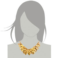 Necklaces - STATEMENT FASHION RETRO GOLDEN CHAIN DANGLE CHUNKY LEAF PENDANT NECKLACE alternate image 3.