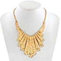 Necklaces - STATEMENT NECKLACE GOLDEN CHAIN JEWELRY PARTY BALL FASHION PENDANT alternate image 1.