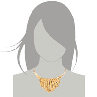 Necklaces - STATEMENT NECKLACE GOLDEN CHAIN JEWELRY PARTY BALL FASHION PENDANT alternate image 3.