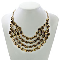Necklaces - HOT RETRO STATEMENT PARTY BALL GOLDEN TONE CHAIN CHUNKY NECKLACE PENDANT alternate image 1.