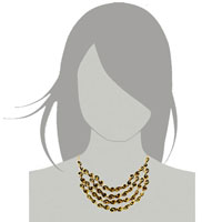 Necklaces - HOT RETRO STATEMENT PARTY BALL GOLDEN TONE CHAIN CHUNKY NECKLACE PENDANT alternate image 3.