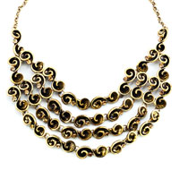 Necklaces - HOT RETRO STATEMENT PARTY BALL GOLDEN TONE CHAIN CHUNKY NECKLACE PENDANT alternate image 2.