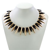 Necklaces - STATEMENT NECKLACE FASHION PARTY BALL GOLDEN TONE CHAIN BUBBLE NECKLACE PENDANT alternate image 1.