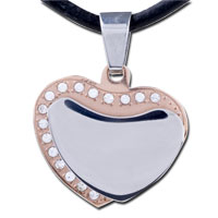 Necklace & Pendants - MEN JEWELRY LAYER HEART STAINLESS STEEL NECKLACES PENDANT FOR MEN alternate image 1.