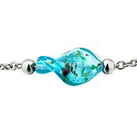 Murano Glass Jewelry - BLUE HELIX CLASSIC MURANO GLASS LAMPWORK PENDANT NECKLACES alternate image 1.
