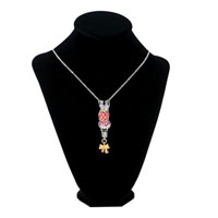 "Necklace & Pendants - COLORFUL CRYSTAL SILVER CROWN SET DANGLE GOLD BOWKNOT 18""  PENDANT NECKLACE BEADS CHARMS BRACELETS FIT ALL BRANDS alternate image 1."
