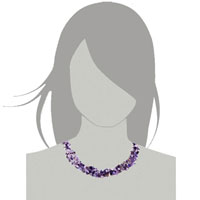 New Year Deals - CHIP STONE NECKLACES GENUINE LIGHT PURPLE CHARM GEMSTONE NUGGET CHIPS PENDANT NECKLACE FOR WOMEN alternate image 2.