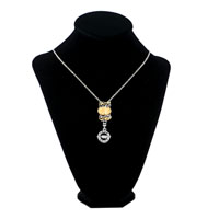 Necklaces - MURANO GLASS KNOTTING FLOWER LOVE FOREVER RING DANGLE NECKLACE BEADED FIT ALL BRANDS alternate image 1.