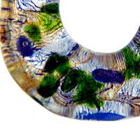 Necklace & Pendants - MURANO GLASS MULTICOLOR HOLLOW TEARDROP NECKLACE PENDANT alternate image 1.