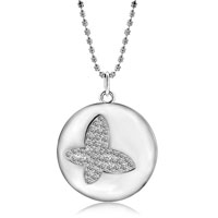 Necklace & Pendants - HOLLOW CRYSTAL BUTTERFLY PENDANT NECKLACE FOR WOMEN alternate image 1.