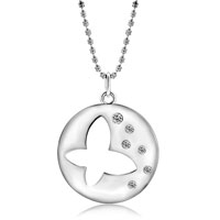 Necklace & Pendants - HOLLOW CRYSTAL BUTTERFLY PENDANT NECKLACE FOR WOMEN alternate image 2.