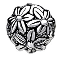 European Beads - BRIGHT CHRYSANTHEMUM SILVER PLATED BEADS CHARMS BRACELETS alternate image 2.