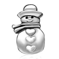 Charms Beads - SILVER PLATED CHIC CHUBBY SNOWMAN EUROPEAN BEAD CHARMS BRACELETS alternate image 2.