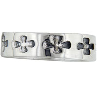 Rings - SIZE7 CELTIC CROSS BAND STERLING SILVER RING alternate image 2.