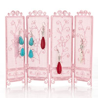 Jewelry Holder - CUTE PINK JEWERLY HOLDER WITH FLOWER PATTERN alternate image 1.