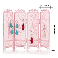 Jewelry Holder - CUTE PINK JEWERLY HOLDER WITH FLOWER PATTERN alternate image 2.