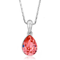 Necklace & Pendants - FASHION INDIAN PINK CZ CRYSTAL DROP PENDANT EARRINGS SETS GIFT alternate image 2.