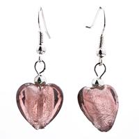 Necklace & Pendants - ATROVIRENS ROUND HEART EARRINGS MURANO GLASS PENDANT EARRINGS SET alternate image 2.