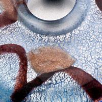 Necklace & Pendants - BLUE ROUND HELIX MURANO GLASS LAMPWORK PENDANT EARRINGS SET alternate image 1.