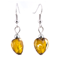 Necklace & Pendants - YELLOW HEART SHAPED MURANO GLASS PENDANT EARRINGS SET alternate image 2.