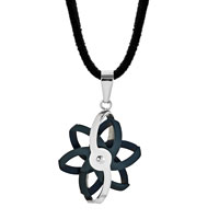 Necklace & Pendants - FILIGREE FLOWER PENDANT NECKLACE STAINLESS STEEL COUPLES JEWELRY SET alternate image 1.
