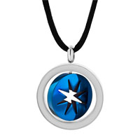 Necklace & Pendants - STAINLESS STEEL TWO TONE RING HOOP STAR PENDANT NECKLACE COUPLE SET alternate image 1.