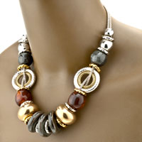 Necklaces - MULTICOLOR 4  PCS BRACELET EARRINGS SET PENDANT NECKLACE JEWELRY alternate image 1.