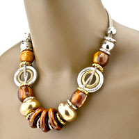Necklaces - 4  PIECES OF RESIN BRACELET EARRINGS SET PENDANT NECKLACE JEWELRY alternate image 1.