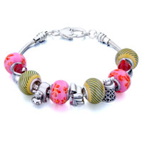 - metal and murano glass mixed beads charms bracelets all brands charm Image.
