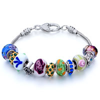 Bracelets - metal and murano glass mixed fit all brands beads charms bracelets Image.