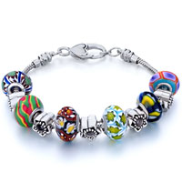 Bracelets - metal and murano glass mixed quintet beads charms bracelets fit all brands Image.