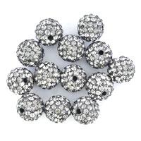 20  Shamballa Ball Beads Charms Red Swarovski Elements Bracelet