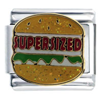 CA1145_PG: Supersized Hamburger Italian Charm Image. CA1145_PG