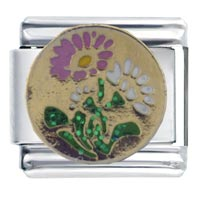 Italian Charms - daisies italian charm Image.