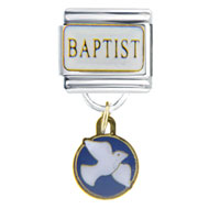 Italian Charms - baptist dangle italian charm Image.