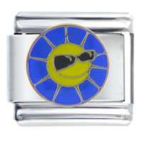 Italian Charms - cool blue sun italian charm Image.