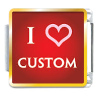 Italian Charms - i heart custom link charm photo italian charm Image.