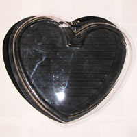Italian Charms - italian charms black heart display Image.
