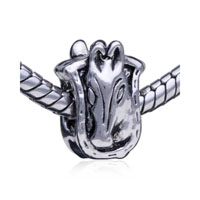 - horse head & shield european charm bead bracelet Image.