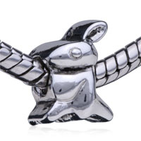 - silver tone rabbit beads Image.