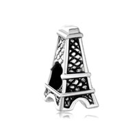 European Beads - mothers day gifts eiffel tower fit all brands silver plated beads charms bracelets Image.