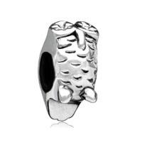 European Beads - round tree face silver plated beads charms bracelets Image.