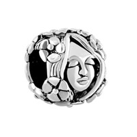 European Beads - flora goddess silver plated beads charms bracelets Image.