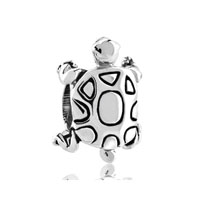 European Beads - turtle silver plated beads charms bracelets Image.