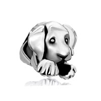 European Beads - cute puppy dog animal all brands silver plated beads charms bracelets Image.