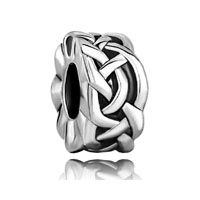 European Beads - celtic knot spacer wheel silver plated beads charms bracelets Image.