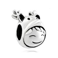 European Beads - cute girl in deer hat silver plated beads charms bracelets Image.