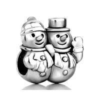 European Beads - snowman fit all brands silver plated beads charms bracelets Image.