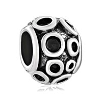 European Beads - many circular shape silver plated beads charms bracelets Image.
